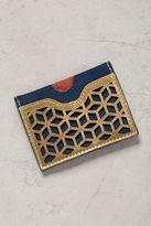 Anthropologie Lasercut Leather Card Holder