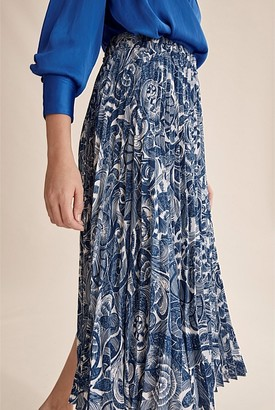 Country Road Print Pleat Skirt
