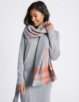 Marks and Spencer Soft Touch Border Scarf