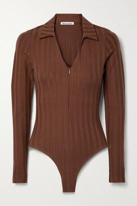 Reformation Jen Ribbed Stretch-tencel Lyocell Jersey Bodysuit