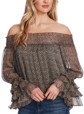 CeCe Off-The-Shoulder Ruffled Top