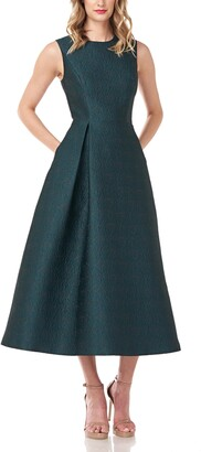 Kay Unger Benedetta Jacquard Cocktail Dress