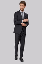 Moss Bros Tailored Fit Dark Charcoal Twill Suit