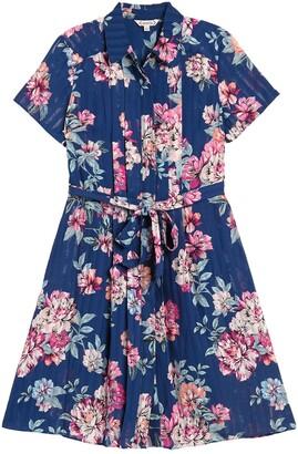 Nanette Lepore Floral Print Pintuck Shirt Dress