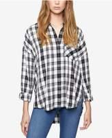 Sanctuary Tie-Back Plaid Boyfriend Shirt