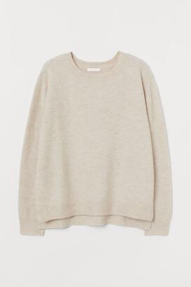 H&M MAMA Knit Nursing Sweater - White