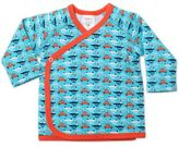 Zutano Itzy Bitzy Vroom Size 3M Long Sleeve Kimono Top in Pool