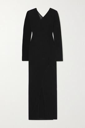Dion Lee Shadow Inverse Layered Asymmetric Jersey Midi Dress - Black