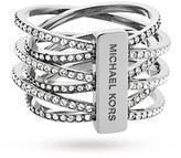 Michael Kors Silver Coloured Ring - Ring Size Q