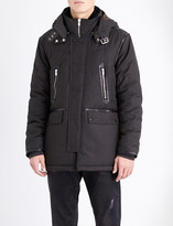 The Kooples Hooded shell parka coat