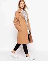 Asos Coat in Bonded Cloth with Raw Edge