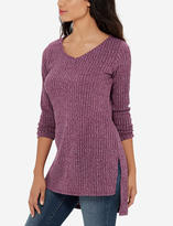 The Limited Marled Ribbed V-neck Tunic