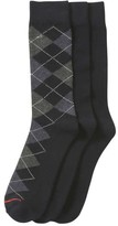 Joe Fresh Men's 3 Pack Argyle Socks, JF Midnight Blue (Size 10-13)