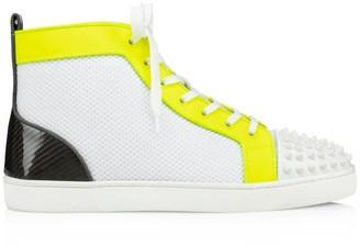Christian Louboutin Lou Spikes Orlato High-Top Sneakers