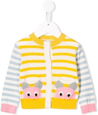 Stella Mccartney Kids Striped Knitted Cardigan