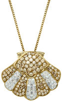 Lord & Taylor Sterling Silver & Crystal Shell Pendant