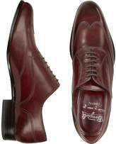 Fratelli Borgioli Handmade Burgundy Italian Leather Wingtip Oxford Shoes