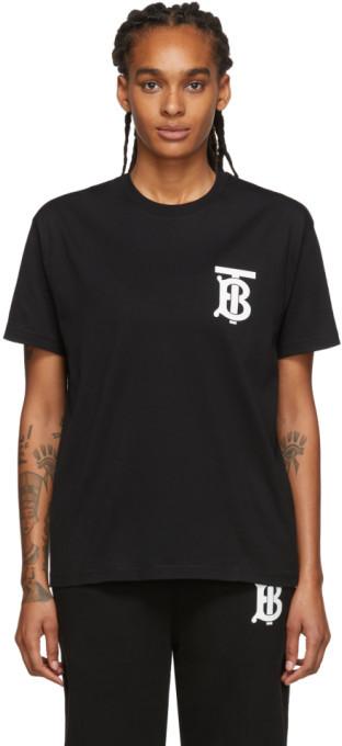 Burberry Black Emerson T-Shirt
