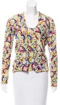 Carolina Herrera Silk Printed Cardigan Set