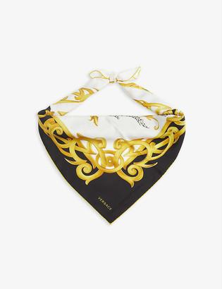 Versace Baroque-print silk foulard scarf