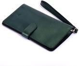 Ita Leather Wallet Metallic Green