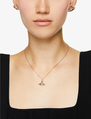 Vivienne Westwood Mayfair Orb small rose gold-toned brass necklace