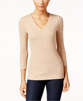 INC International Concepts Heathered Ribbed Top, Only at Macy's