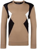 Neil Barrett colour block jumper