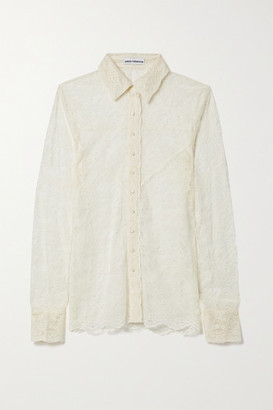 Paco Rabanne Corded Lace Shirt - Ivory