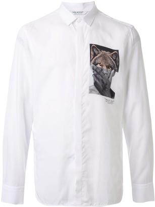 Neil Barrett photo print button up shirt