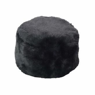 Yivise Women Faux Fur Headband Elastic Fluffy Fur Hat Winter Ear Warmer Earmuff Ski Cold Weather Caps(Black)