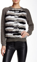 Nicole Miller Genuine Rabbit Fur Knit Sweater