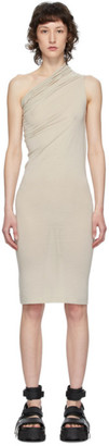 Rick Owens Lilies Grey Heavy Jersey One Shoulder Dress