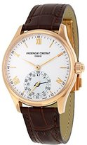 Frederique Constant Men's 'Horological Smart' Swiss Quartz Stainless Steel and Leather Casual Watch, Color:Brown (Model: FC-285V5B4)