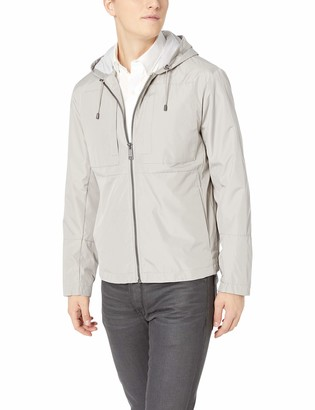 Andrew Marc Men's Hooded City Rain Tech Jacket