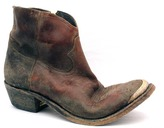 """Golden Goose 274-A3 Young"""" Brown Distressed Leather Short Cowboy Boot"""