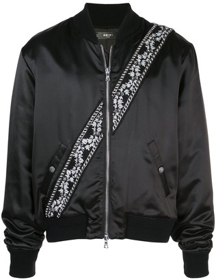 Amiri Contrast Stripe Bomber Jacket