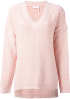 See by Chloe knit V-neck jumper - women - Cotton/Nylon - L
