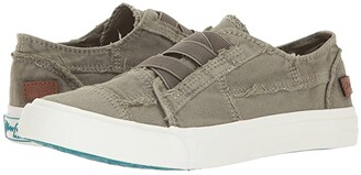 Blowfish Marley (White Color Washed Canvas) Women's Flat Shoes
