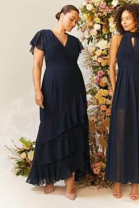 Coast Curve Ruffle Hem Tiered Maxi Dress