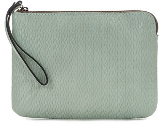 Patricia Nash Leather Embossed Woven Wristlet - Cassini