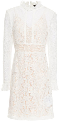 Maje Riline Ruffle-trimmed Lace Mini Dress