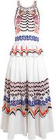Temperley London Spellbound Embroidered Cotton-poplin Midi Dress - UK10