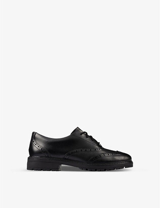 Clarks Loxham leather brogues 9-12 years