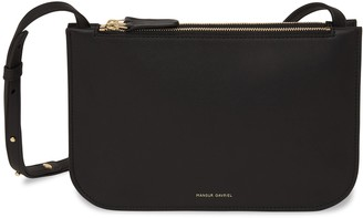 Mansur Gavriel Double Crossbody - Black/Black
