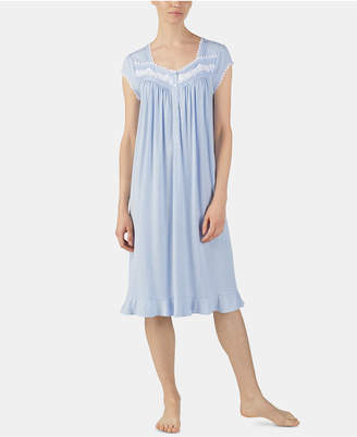 Eileen West Plus-Size Printed Venise Lace Waltz Nightgown