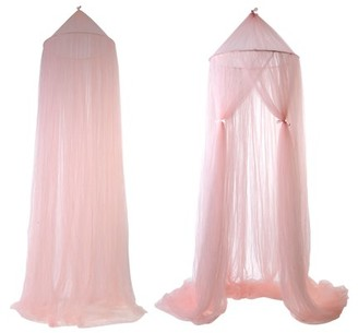 Uarter Princess Bed Canopy for Kids Baby Bed Mosquito Net Decorative Baby Crib Curtain for Baby Cribs and Other Beds, Round Dome Kids Indoor Outdoor Castle Play Tent, Pink