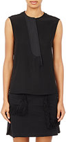 Paco Rabanne Women's Asymmetric-Placket Sleeveless Top-BLACK
