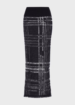 Giorgio Armani Long Jacquard Skirt