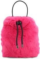 Karl Lagerfeld Paris X CARINE FAUX FUR BUCKET BAG